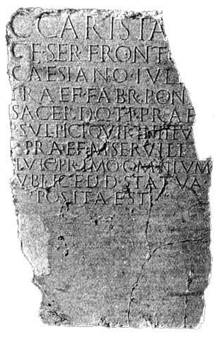 First Antiochene inscription, JRS 3 p. 255